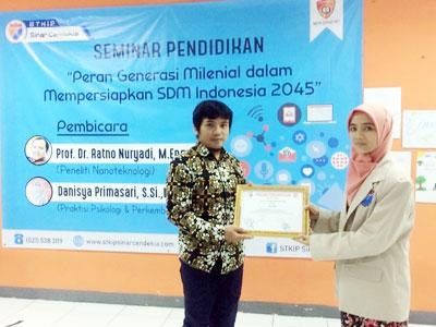 """""""Peran Generasi Milenial dalam Menyiapkan Indonesia Emas 2045"""""""